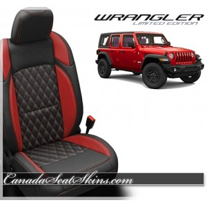 2018 - 2019 Jeep Wrangler Katzkin Tekstitch Leather Seats