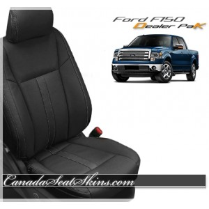 2015 - 2018 Ford F150 Black Katzkin Leather Seat