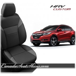 2016 Honda HRV Charcoal Katzkin Leather Seats
