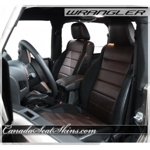 2007 - 2012 Jeep Wrangler Katzkin in Black with Espresso