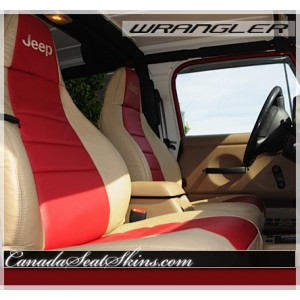 1997 - 2006 Jeep Wrangler TJ Katzkin Leather Seats