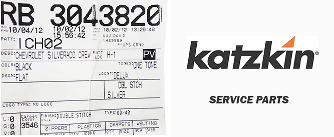 Katzkin Leather Service Parts Ordering Information