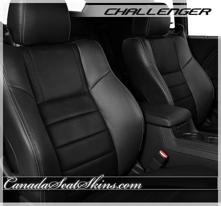 2009 - 2014 Dodge Challenger Katzkin Black Suede Leather Seats