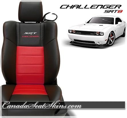 2011 - 2014 Dodge Challenger SRT8 Red Katzkin Leather