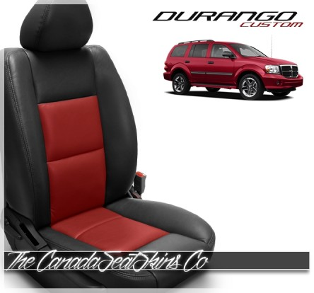 1998 - 2010 Dodge Durango Katzkin Black and Red Leather Seat Sale