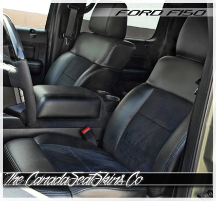 2004 - 2008 Ford F150 Black Suede Katzkin Leather Seat Sale