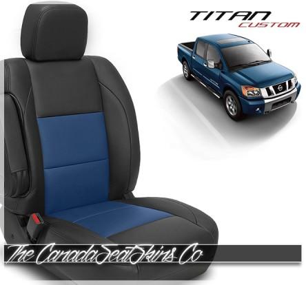 2004 - 2015 Nissan Titan Custom Katzkin Pacific Blue Leather Seats Sale
