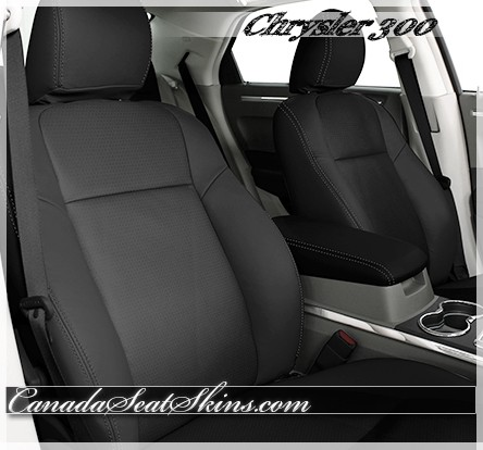 2005 - 2010 Chrysler 300 Black Katzkin Leather Seats