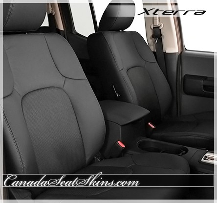 Nissan Xterra Black Katzkin Leather Seats