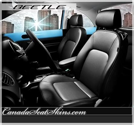 2003 - 2011 Volkswagen Beetle Katzkin Black Leather Seats