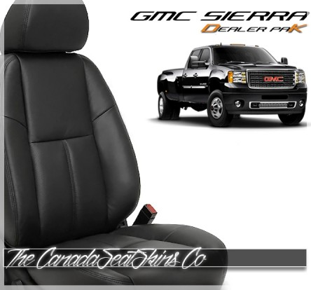 2007 - 2013 GMC Sierra Leather Seat Cover and Leather Seat Upholstery Kit