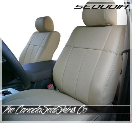 2008 - 2017 Toyota Sequoia Clazzio Premium Fitted Slip Over Seat Covers Tan