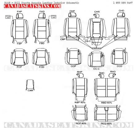 2005 2014 Toyota Sequoia Dealer Pak Leather Upholstery Kits