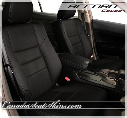 2008 - 2012 Honda Accord Coupe Black Leather Seats