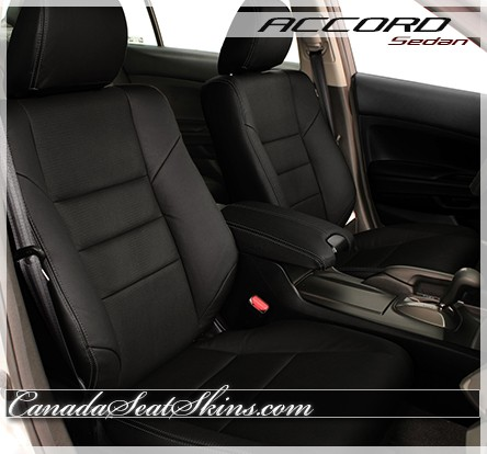 2008 - 2012 Honda Accord Black Leather Seats