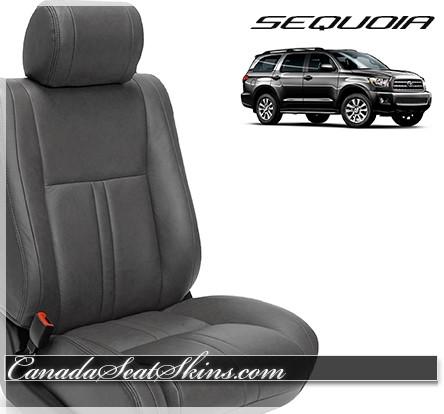 2008 - 2014 Toyota Sequoia Ice Grey Leather Seats