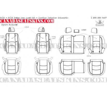 2009 2018 dodge ram sport custom leather upholstery rh canadaseatskins us 1998 dodge ram interior fuse box diagram 1997 dodge ram 1500 interior fuse diagram