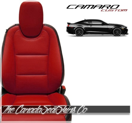 2010 - 2015 Chevrolet Camaro Katzkin Red Leather Seats