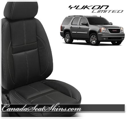 2010 - 2014 GMC Yukon Katzkin Limited Edition Carbon Shadow Leather Seats