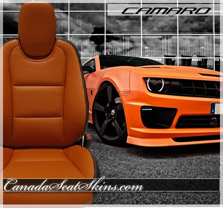2010 - 2015 Chevrolet Camaro Tangerine Leather Faces