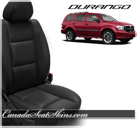 1998 - 2010 Dodge Durango Katzkin Black Leather Seats