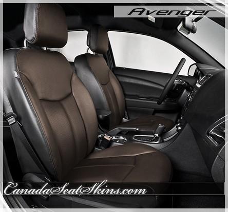 2011 - 2014 Dodge Avenger Katzkin Black with Coffee Leather Seats