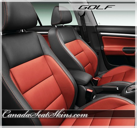 2011 - 2014 Volkswagen Golf Katzkin Leather Seats Red