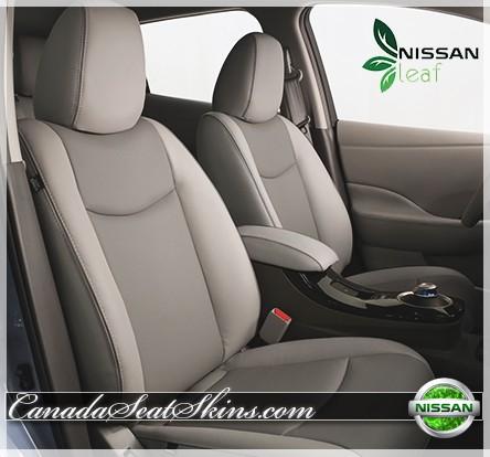 2011 - 2015 Nissan Leaf Tan Katzkin Leather Seats