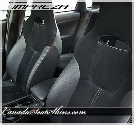 Subaru WRX Black Suede Leather Seats