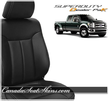 2016 Ford F250 F350 Black Leather Seats