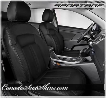 2011 - 2016 Kia Sportage Custom Katzkin Black Leather Seats