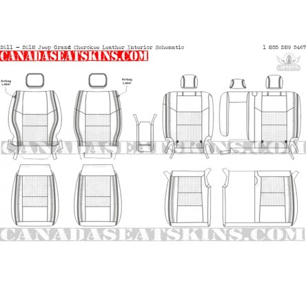 2011 - 2019 jeep grand cherokee katzkin leather seat schematic