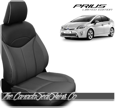 2012 - 2013 Toyota Prius Limited Edition Charcoal Black Katzkin Leather Seat Sale
