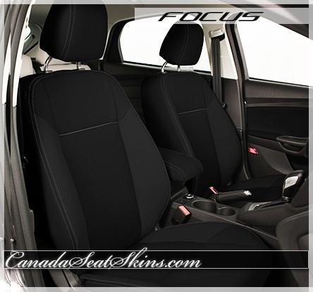 2015 - 2018 Ford Focus Katzkin Black Suede Leather Interior