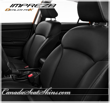2012 - 2015 Subaru Impreza Black Leather Kit