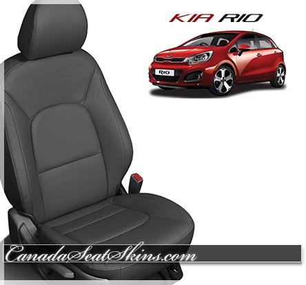 2012 - 2017 Kia Rio Katzkin Black Leather Seats