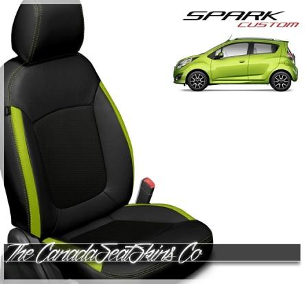 2013 - 2021 Chevrolet Spark Katzkin Custom Electric Lime Leather Seat Sale