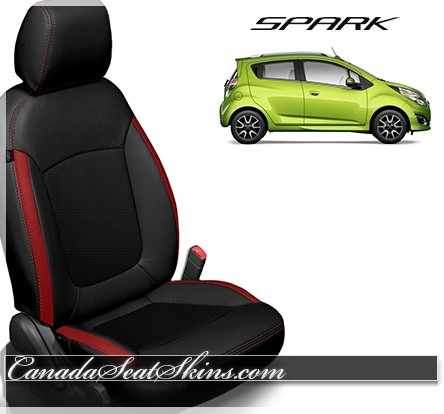 2013 - 2018 Chevrolet Spark Katzkin Black with Red Leather Seats