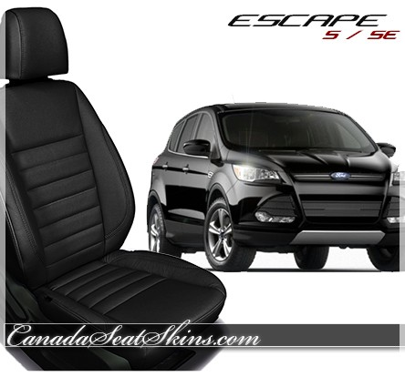 2013 - 2016 Ford Escape Black Leather Seats