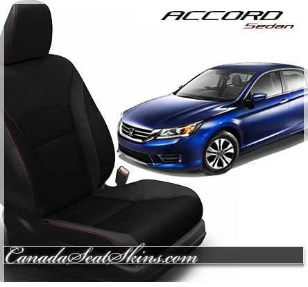 2013 - 2015 Honda Accord Sedan Katzkin Black Leather Seats