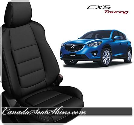 2013 - 2015 Mazda CX5 Katzkin Black Leather Seats