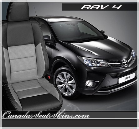 2013 - 2018 Rav 4 XLE Custom Dark Graphite and Ash Leather Seats
