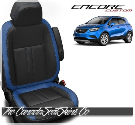 2014 - 2020 Buick Encore Custom Black and Pacific Leather Seat Kit