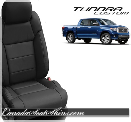 2014 - 2018 Toyota Tundra Katzkin Black Leather Seats
