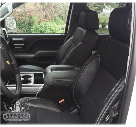 ... 2014   2018 Silverado Katzkin Black Carbon Raven Leather Seats ...