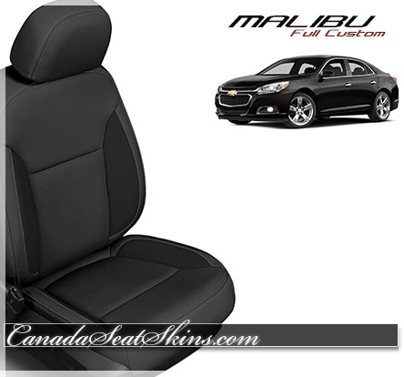 2013 - 2016 Chevrolet Malibu Black Katzkin Leather Seats