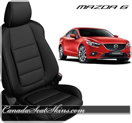 2014 - 2017 Mazda 6 Black Katzkin Leather Seats