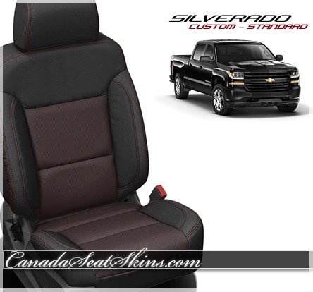 2014 - 2018 Silverado Katzkin Custom Red Barracuda Leather Seats