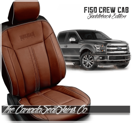 2015 - 2020 F150 Black Amaretto Limited Edition Saddleback Leather Upholstery