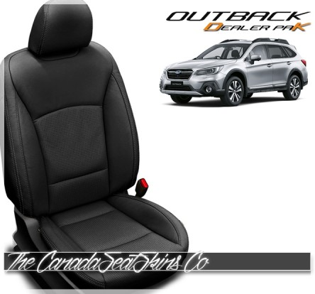 2015 - 2019 Subaru Outback Katzkin Black Dealer Pak Leather Seat Promotion